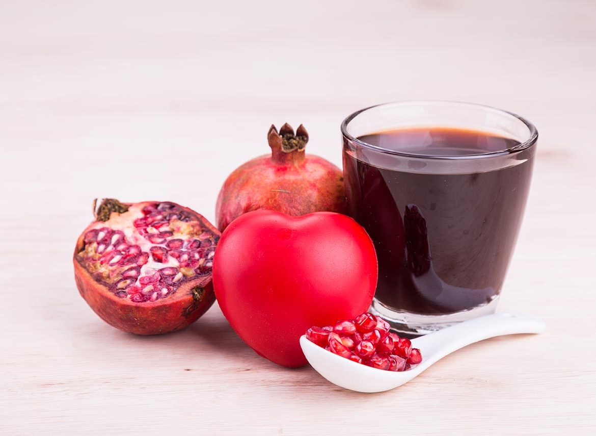 Organic pomegranate juice with high anti-oxidants